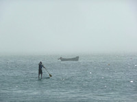 Hull paddlers in foggy Howth